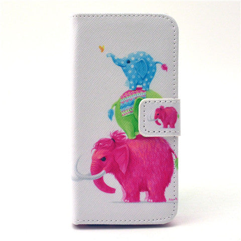 Naughty elephant  Stand Leather Case For iPhone5s - BoardwalkBuy - 1