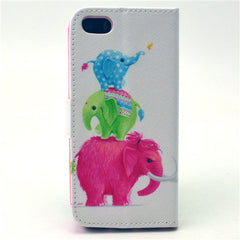 Naughty elephant  Stand Leather Case For iPhone5s - BoardwalkBuy - 3