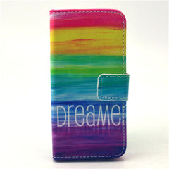 Colorful dream Stand Leather Case For iPhone5s - BoardwalkBuy - 1