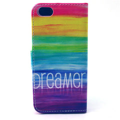 Colorful dream Stand Leather Case For iPhone5s - BoardwalkBuy - 4