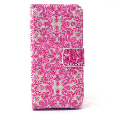 Pink Snow Stand Leather Case For iPhone5s - BoardwalkBuy - 1