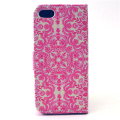 Pink Snow Stand Leather Case For iPhone5s - BoardwalkBuy - 4