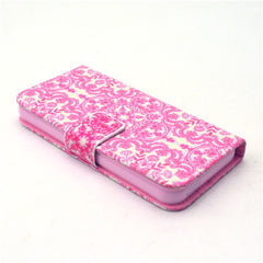 Pink Snow Stand Leather Case For iPhone5s - BoardwalkBuy - 3
