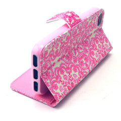 Pink Snow Stand Leather Case For iPhone5s - BoardwalkBuy - 2