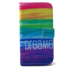 Colorful dream Stand Leather Case For Samsung S4 - BoardwalkBuy - 1