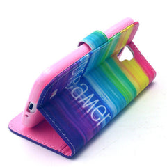 Colorful dream Stand Leather Case For Samsung S4 - BoardwalkBuy - 2