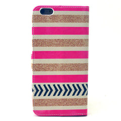 Gold Stripes Leather Case for iPhone 6 Plus - BoardwalkBuy - 3