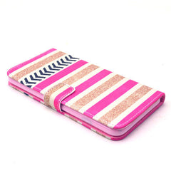 Gold Stripes Leather Case for iPhone 6 Plus - BoardwalkBuy - 4