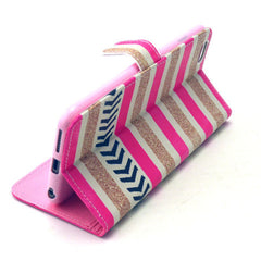 Gold Stripes Leather Case for iPhone 6 Plus - BoardwalkBuy - 2