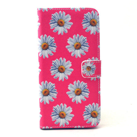 Chrysanthemum Leather Case for iPhone 6 Plus - BoardwalkBuy - 1