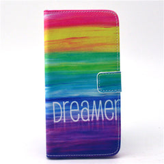 Colorful dream Stand Leather Case For iPhone6 - BoardwalkBuy - 1
