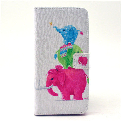 Naughty elephants Leather Case for iPhone 6 Plus - BoardwalkBuy - 1