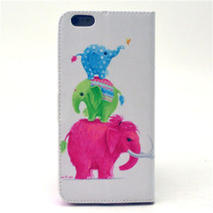 Naughty elephants Leather Case for iPhone 6 Plus - BoardwalkBuy - 3