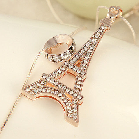 Diamond Eiffel Tower Necklace - BoardwalkBuy - 1