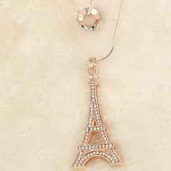 Diamond Eiffel Tower Necklace - BoardwalkBuy - 3