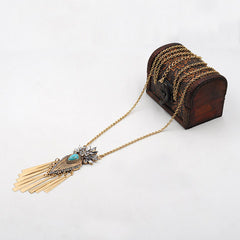 Diamond Tassel National Wind Sweater Necklace - BoardwalkBuy - 5
