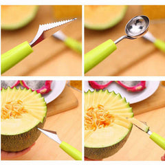 Double-End Multi Function Stainless Steel Fruit Spoon - BoardwalkBuy - 4