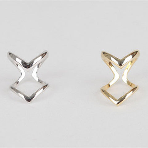 Double V-Shaped Half Opened Adjustable Vintage Ring