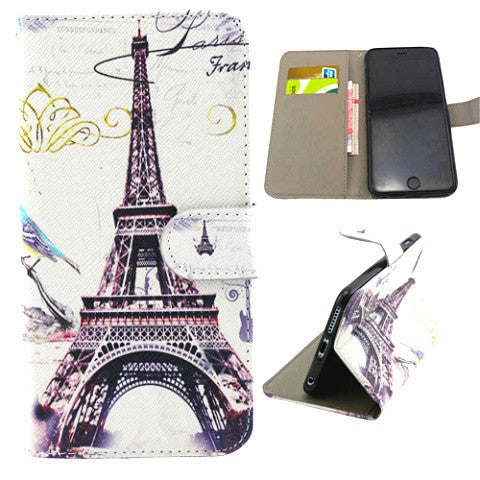 Eiffel Tower Wallet Case for iPhone 6 Plus - BoardwalkBuy - 1