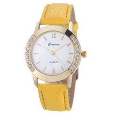 Elegan Women Diamond Analog Leather Quartz Wrist Watch - BoardwalkBuy - 2