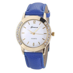 Elegan Women Diamond Analog Leather Quartz Wrist Watch - BoardwalkBuy - 8