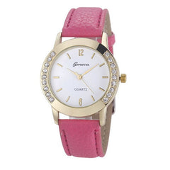 Elegan Women Diamond Analog Leather Quartz Wrist Watch - BoardwalkBuy - 7