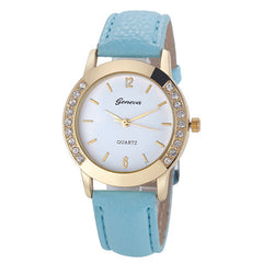 Elegan Women Diamond Analog Leather Quartz Wrist Watch - BoardwalkBuy - 9