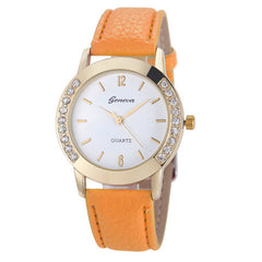 Elegan Women Diamond Analog Leather Quartz Wrist Watch - BoardwalkBuy - 6