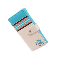 Striped Cat Clasp Women Purse
