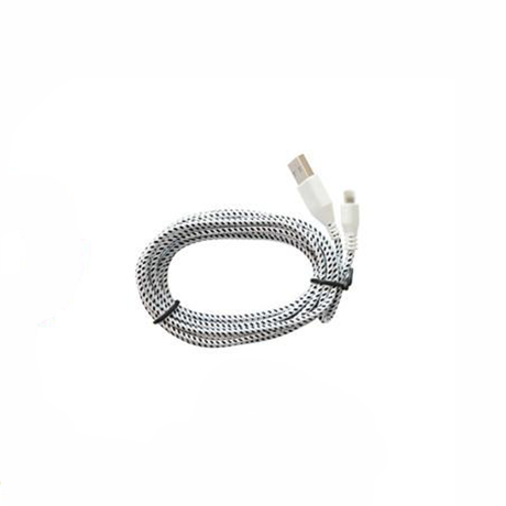 2 Pack: 10 Feet Fiber Cloth Cable for iPhone 5 & 6