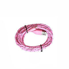 2 Pack: 10 Feet Fiber Cloth Cable for iPhone 5 & 6 - Assorted Colors