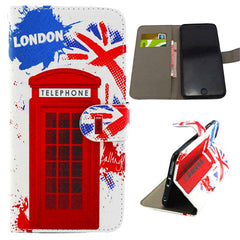 Telephone Booth Stand Leather Case for iPhone 6 Plus - BoardwalkBuy - 1