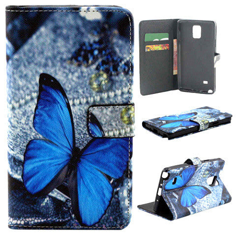 Butterfly Wallet Case For Samsung Note 4