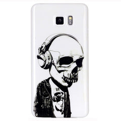 Samsung Galaxy note 5 Headphones Skull case - BoardwalkBuy - 1