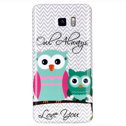 Samsung Galaxy note 5 2 Owls case - BoardwalkBuy - 1