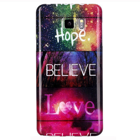 Samsung Galaxy Note 5 Believe Love Case