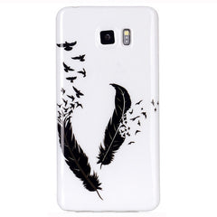 Samsung Galaxy note 5 Black Feather case - BoardwalkBuy - 1