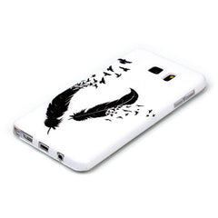 Samsung Galaxy note 5 Black Feather case - BoardwalkBuy - 3