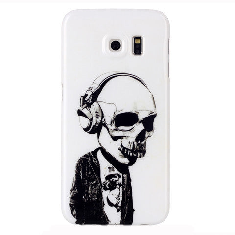 Samsung Galaxy S6 Edge Headphones Skull case - BoardwalkBuy - 1