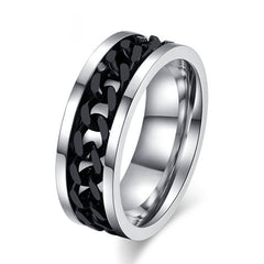 Stainless Steel Chain Rotatable Ring - BoardwalkBuy - 5