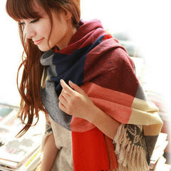 Scarf Plaid Thick Brand Shawls And Scarves For Women - BoardwalkBuy - 8