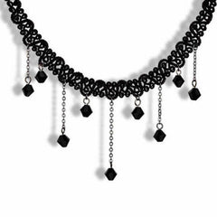 Fashion Crystal Lace Collar Pendant Chain  Necklace Jewelry - BoardwalkBuy - 2