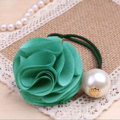 Fashion Women Girl Pearl camellia Hair band - BoardwalkBuy - 4