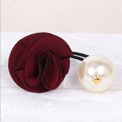Fashion Women Girl Pearl camellia Hair band - BoardwalkBuy - 10