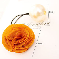 Fashion Women Girl Pearl camellia Hair band - BoardwalkBuy - 6