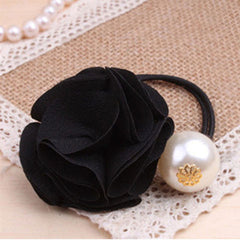 Fashion Women Girl Pearl camellia Hair band - BoardwalkBuy - 2