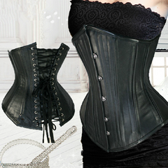 Fashional Black Leather Waist Trainer - BoardwalkBuy - 1