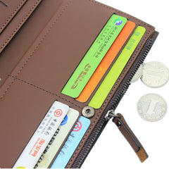 First Class PU Leather Long Male Wallets - BoardwalkBuy - 10