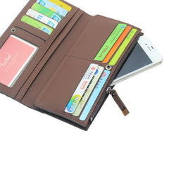 First Class PU Leather Long Male Wallets - BoardwalkBuy - 9