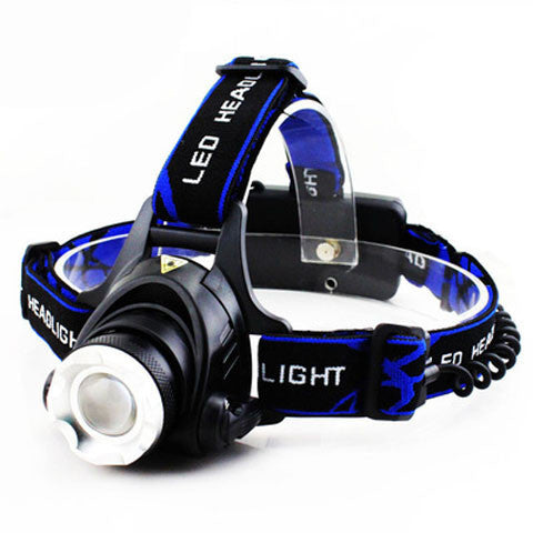 Fishing light head mounted flashlight
